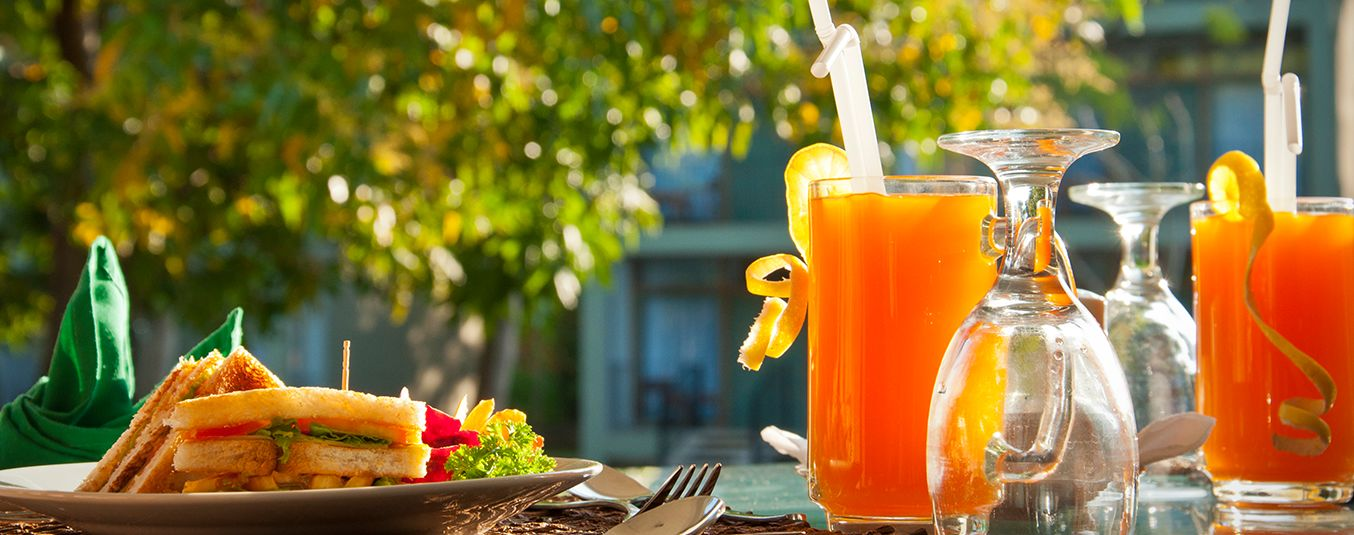Sandwiches and Fruit Juice at Fresco Water Villa in Sigiriya