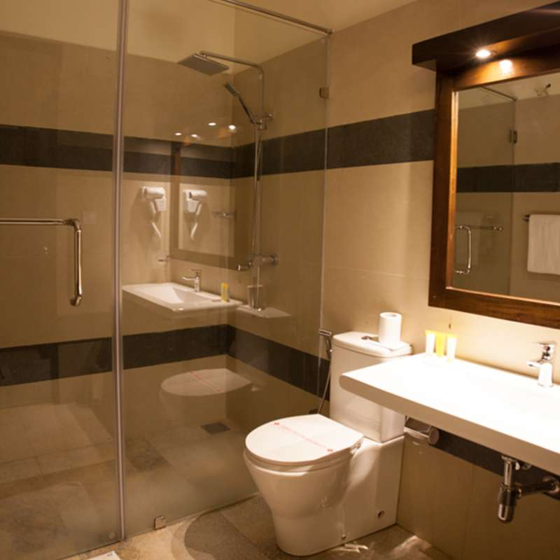 Bathroom Interior at Oak Ray City Hotel Kandy