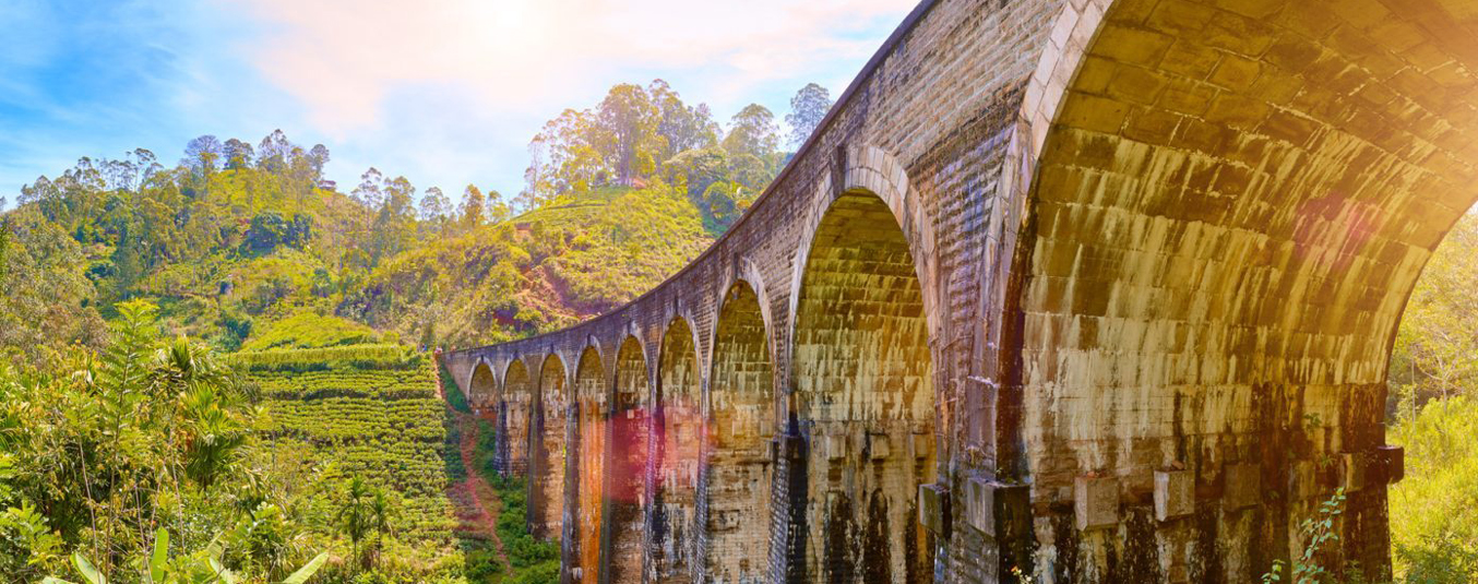 The Nine Arch Railroad bridge in Demodara, Sri Lanka