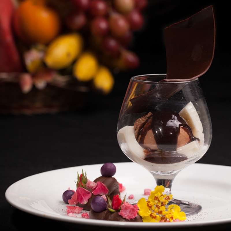 Chocolate Mousse Served at Oak Ray Regency
