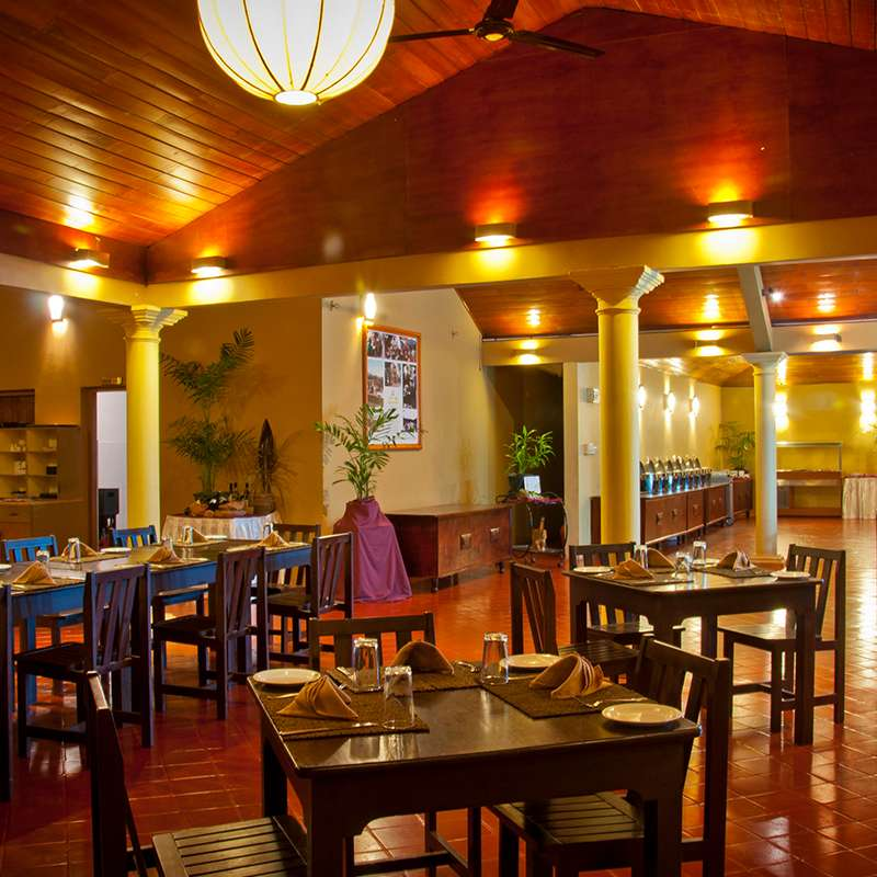 Dining Arrangements in Pelwehera Village Resort Dambulla