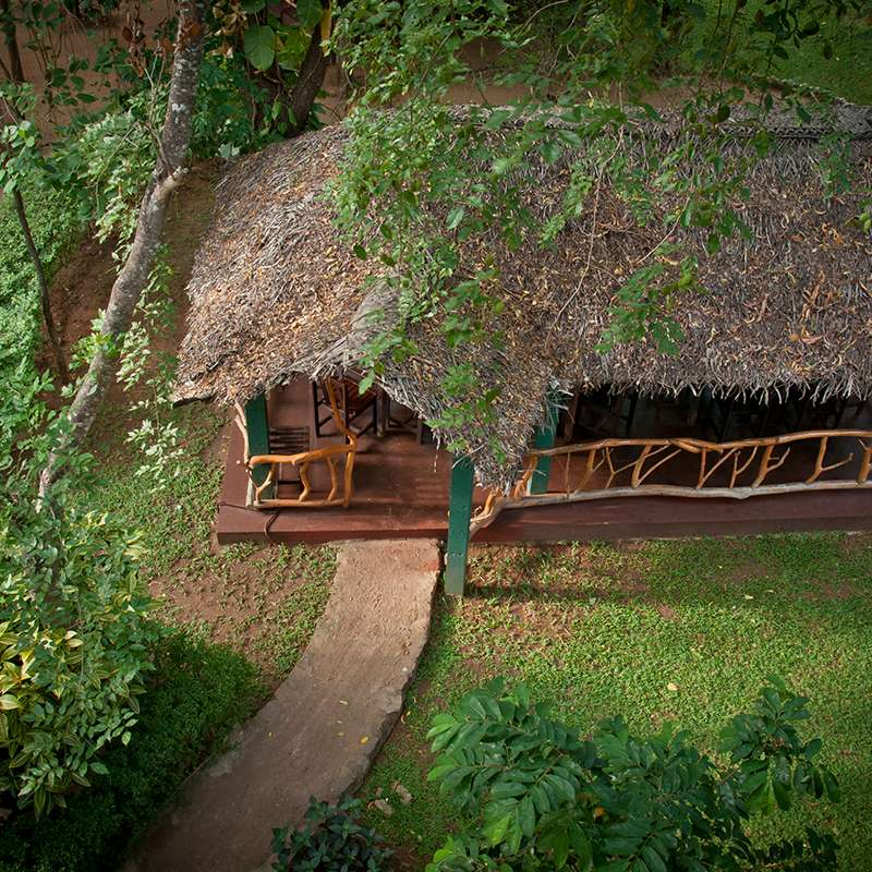 Aerial View of the Garden at Pelwehera Village Resort
