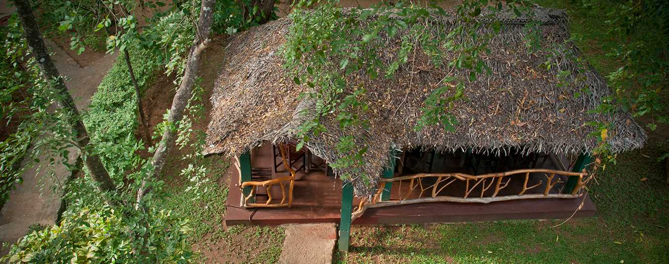 Aerial View of a Hut at Pelwehera Village Resort Dambulla