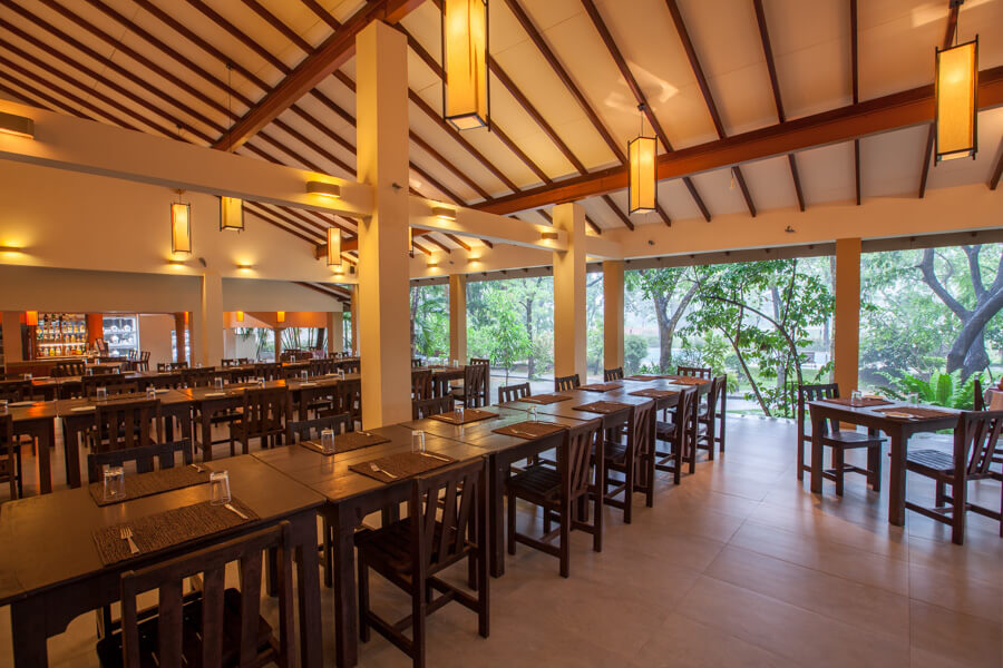 Dining Arrangements at Pelwehera Village Resort