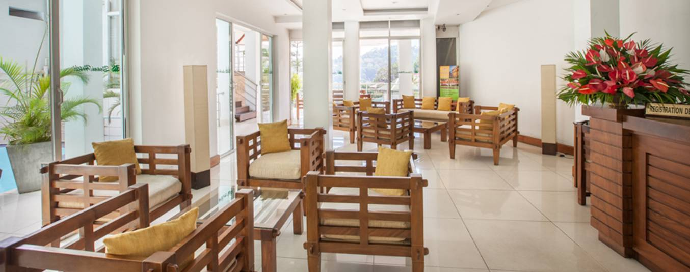 Seating Arrangement in the Lobby at Senani Hotel Kandy