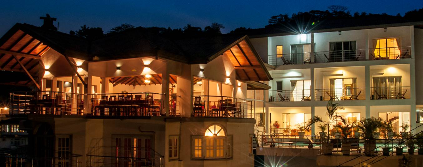 Well Lit Senani Hotel Kandy at Night