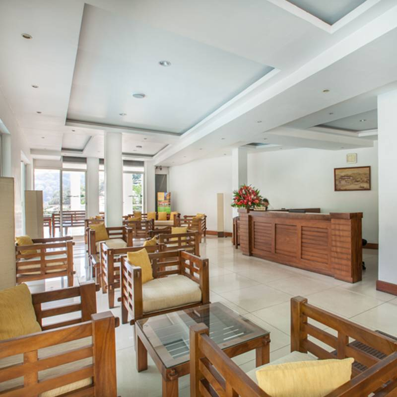 Angle View of the Lobby Area at Senani Hotel