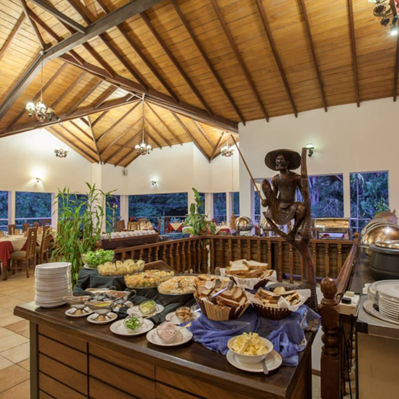 Buffet at the Rooftop Restaurant in Senani Hotel
