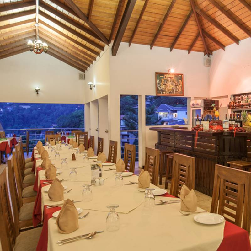 Roof-top Restaurant at Senani Hotel in Kandy