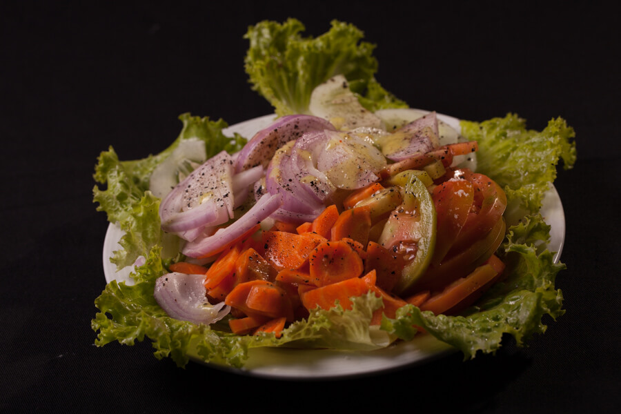 Vegetable Salad in Senani Hotel Kandy