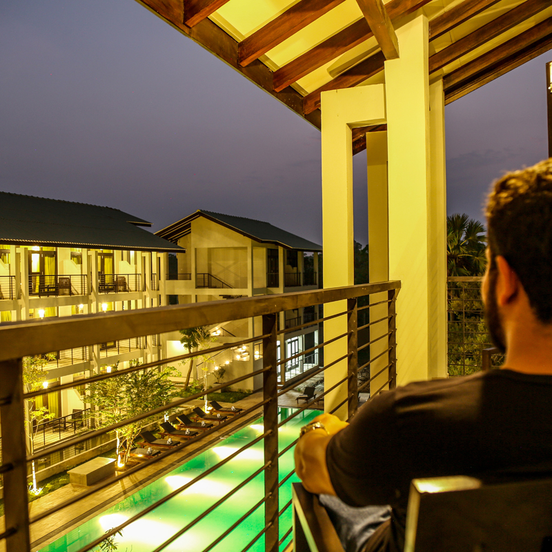 Balcony Views at Oak Ray Wild Yala